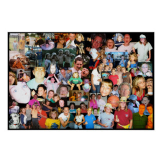 Justin Family Collage Poster
