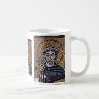 Justinian I, de Mozaïeken A van het Koor van San Koffiemok