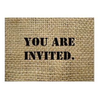 Jute 12,7x17,8 Uitnodiging Kaart