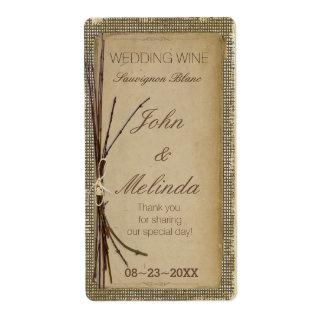Jute, Takjes en de Wijn ID132 van het Huwelijk van Verzendlabel