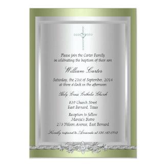 Juweel & de DwarsUitnodiging van het Doopsel/van 12,7x17,8 Uitnodiging Kaart