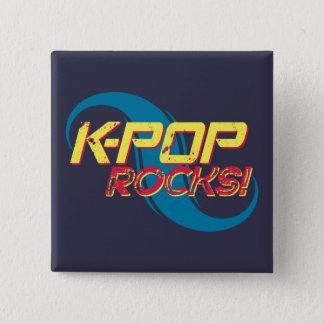 K-pop Rotsen!  (Licht) Vierkante Button 5,1 Cm