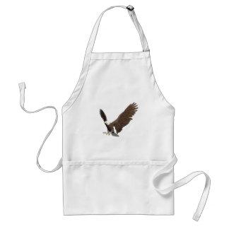 Kaal Eagle die binnen voor het Landen komen Standaard Schort