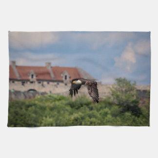 Kaal Eagle die Fort Ticonderoga overgaan Theedoek