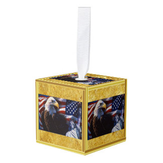 Kaal Eagle een Standbeeld van Vrijheid een Decoratie 0