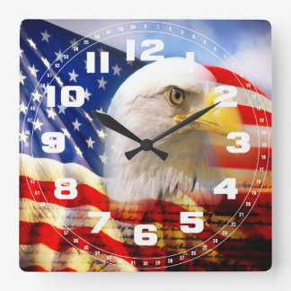 Kaal Eagle en de Amerikaanse Klok van de Muur van