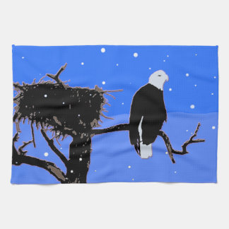 Kaal Eagle in de Winter Theedoek