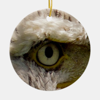 KAAL EAGLE ROND KERAMISCH ORNAMENT