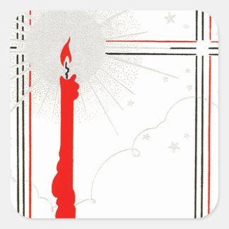 Kaars van Kerstmis van Deco van de sticker de