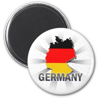 Kaart 2.0 van de Vlag van Duitsland Koelkast Magneetje