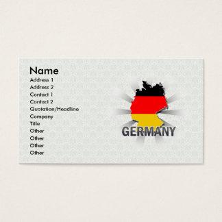 Kaart 2.0 van de Vlag van Duitsland Visitekaartjes