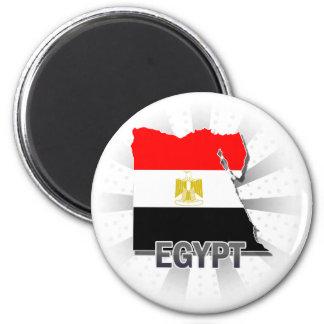 Kaart 2.0 van de Vlag van Egypte Magneet