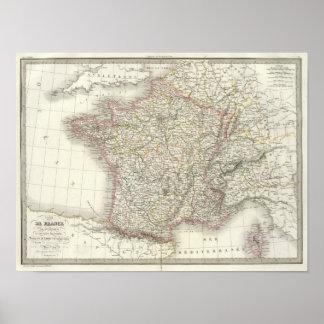 Kaart 2 van de Atlas van Frankrijk Poster