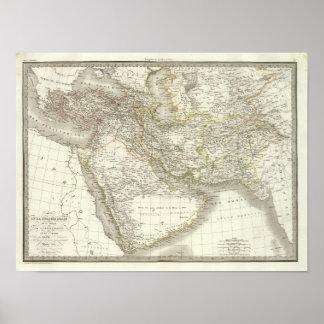 Kaart 2 van de Atlas van het Midden-Oosten Poster