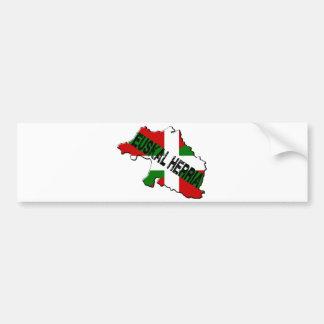 Kaart Baskisch land plus euskal vlag herria Bumpersticker