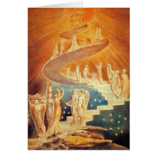Kaart:  De Ladder van Jacob - William Blake Wenskaart