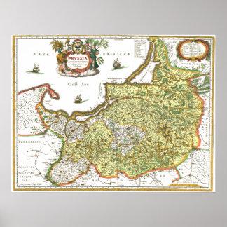 Kaart de Oost- van Pruisen Poster