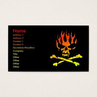 Kaart de van de Bedrijfs schedel van de brand van Visitekaartjes
