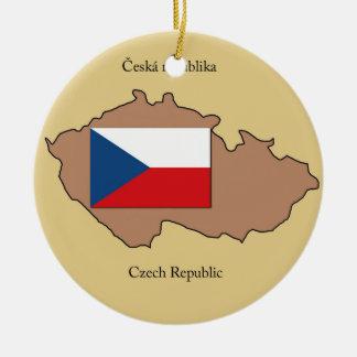 Kaart en Vlag van het Ornament van de Tsjechische