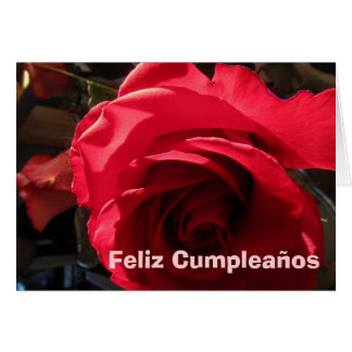 Kaart - Feliz Cumpleaños - Rosa Roja