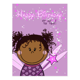 kaart - happy birthday - engeltje