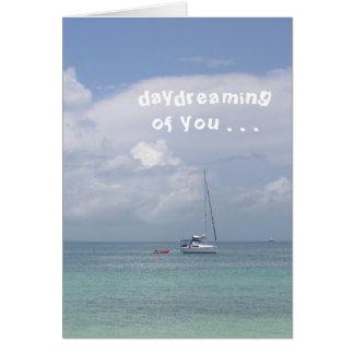 """Kaart, """"het Dagdromen van u"""" (boot op de Caraïben) Briefkaarten 0"""