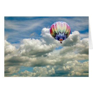 Kaart - Hete luchtballon tijdens de vlucht