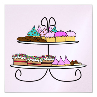 kaart high tea met cupcakes