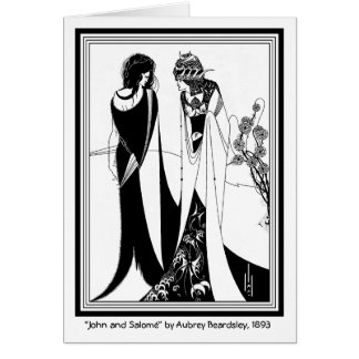 Kaart: Illustratie door Aubrey Beardsley Briefkaarten 0