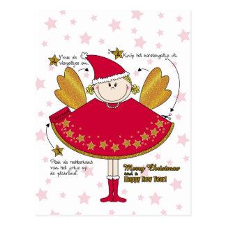 Kaart kerstengeltje knutselen DIY Briefkaart