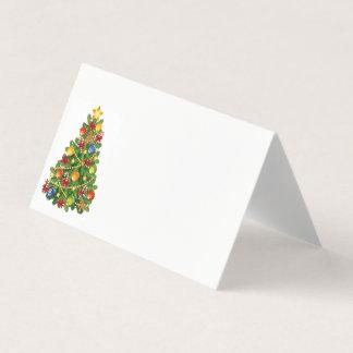 Kaart-Kerstmis van de Plaats van de naam Boom Plaatskaart
