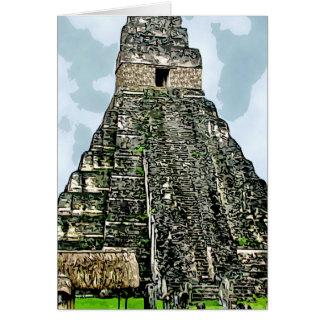Kaart: Mayan Tempel in Tikal, Guatemala Kaart