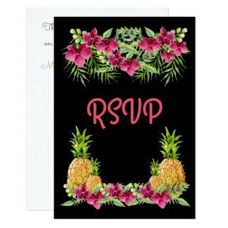 Kaart RSVP van de Varens van de Orchideeën van 8,9x12,7 Uitnodiging Kaart