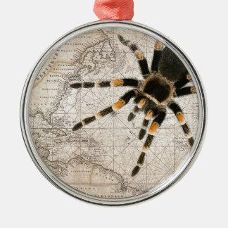 kaart spin zilverkleurig rond ornament