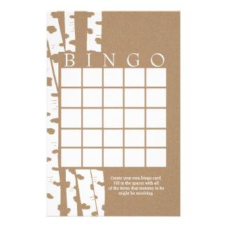 Kaart van Bingo van de Douche van de Boom van de