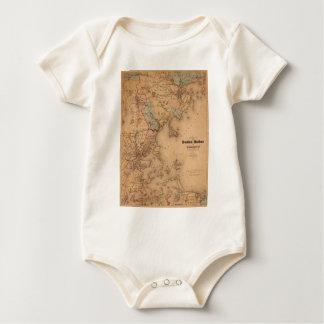 Kaart van Boston 1861 Baby Shirt