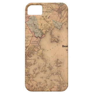 Kaart van Boston 1861 Barely There iPhone 5 Hoesje