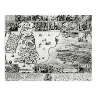 Kaart van Burgeroorlog Engeland en een uitzicht