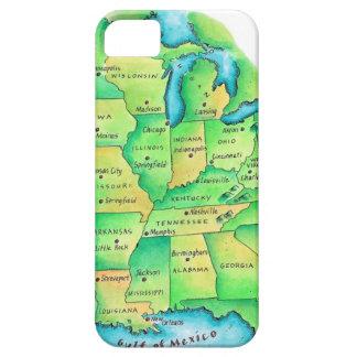 Kaart van Centrale Verenigde Staten Barely There iPhone 5 Hoesje