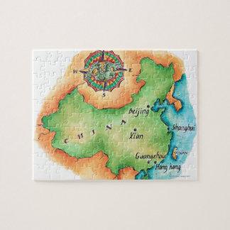 Kaart van China Legpuzzel