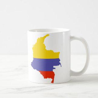 Kaart van Colombia Koffiemok