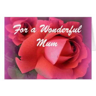 Kaart van de de rozenverjaardag van de moeder de