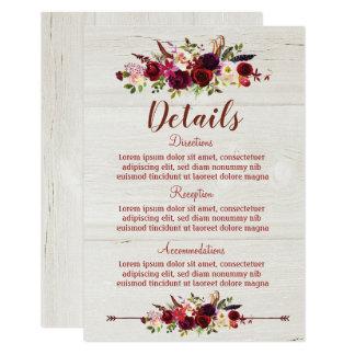 Kaart van de Details van het Huwelijk Boho van