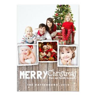 Kaart van de Foto van Kerstmis van het land de 12,7x17,8 Uitnodiging Kaart