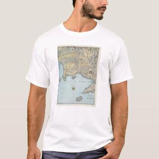 Kaart van de Golf van Napels en Omringend Gebied T Shirt