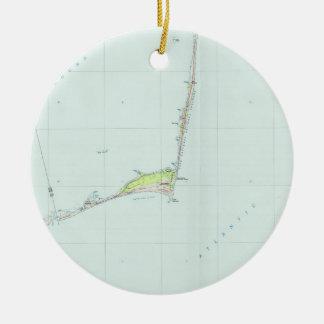 Kaart van de Kust van Hatteras van de kaap de Rond Keramisch Ornament