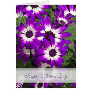 Kaart van de Moederdag van de paarse Bloem de