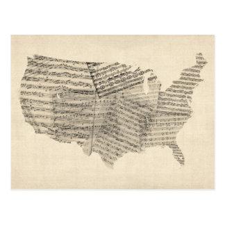 Kaart van de Muziek van het Blad van Verenigde