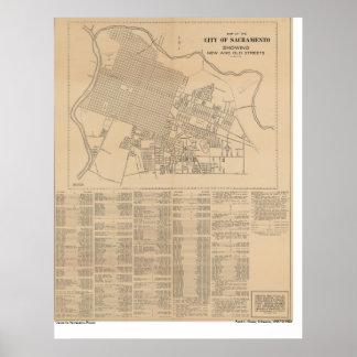 Kaart van de Stad van Sacramento, 1916 Poster
