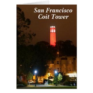Kaart van de Toren Coit van San Francisco de Rode